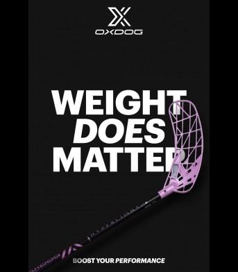 Floorball Schläger OXDOG Hyperlight HES 27 Frozen Pink SWEOVAL
