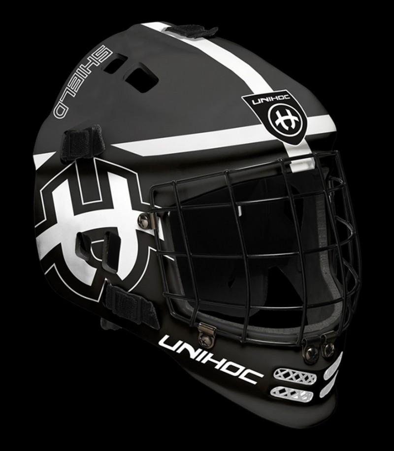 unihoc Torhütermaske Shield Schwarz/Weiß