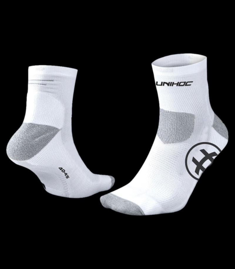 unihoc Socken Sprint Low Cut Weiß
