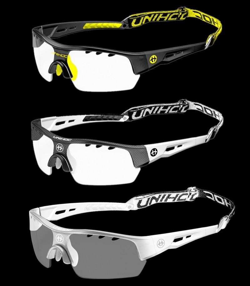 unihoc Sportbrille Victory Senior Carbon/Weiss