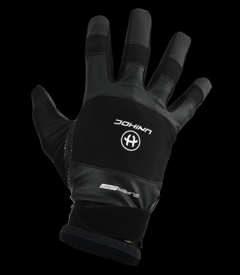unihoc Torhüterhandschuhe SUPERGRIP schwarz