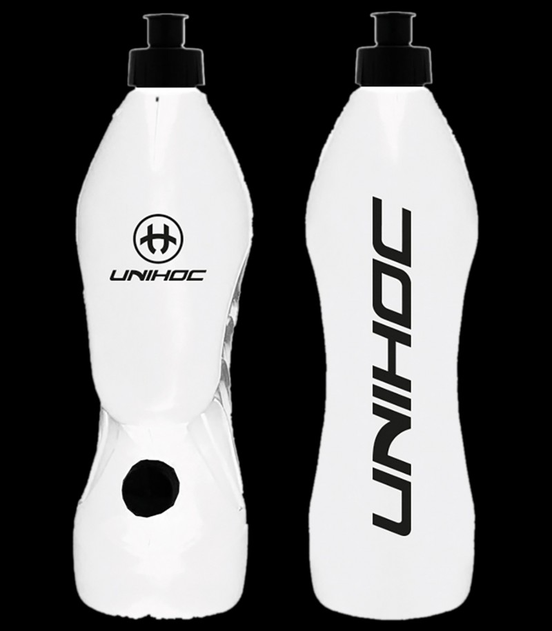 unihoc Trinkflasche Dual Pipe Weiss