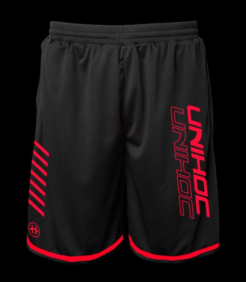 Unihoc Shorts Vendetta Schwarz/Rot