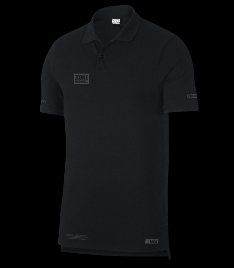 Zone Polo Piquet HITECH schwarz/grau