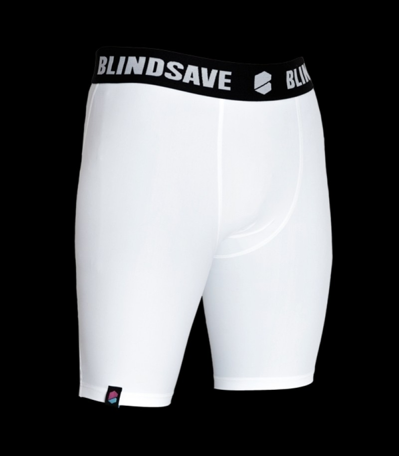 Blindsave Compression Shorts Weiss