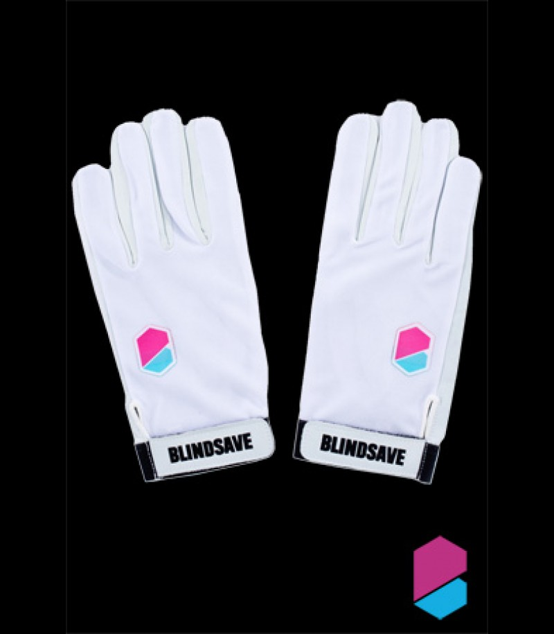 Blindsave Goalie Gloves Premium White