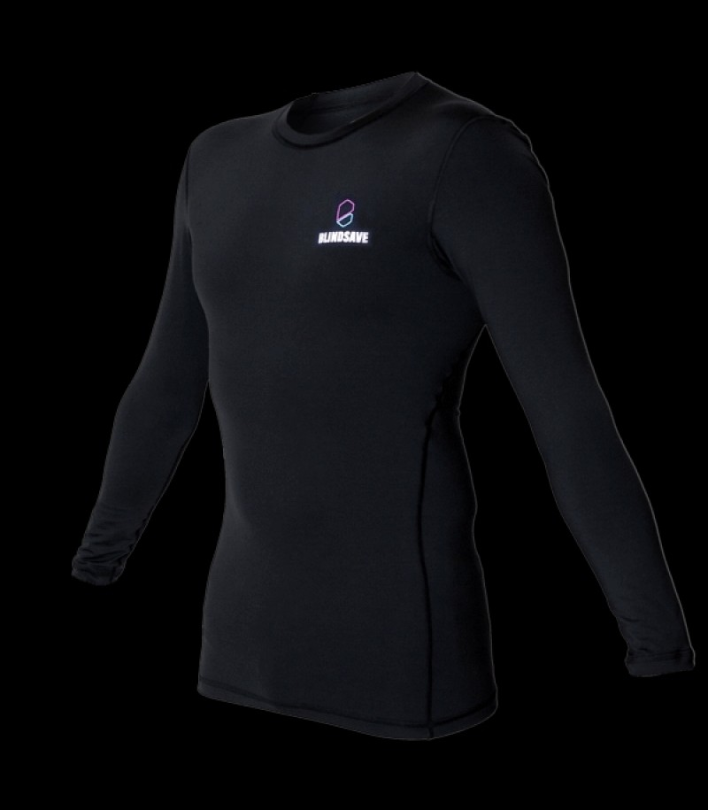Blindsave Compression Shirt Long Sleeve Schwarz