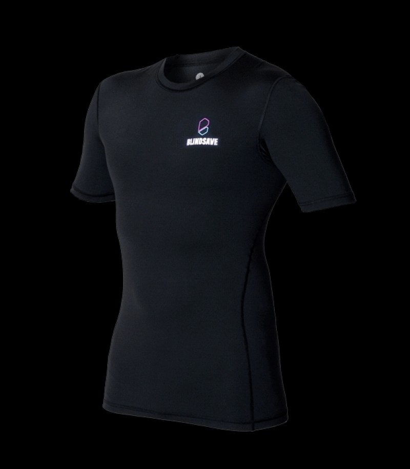 Blindsave Compression Shirt Short Sleeve Schwarz