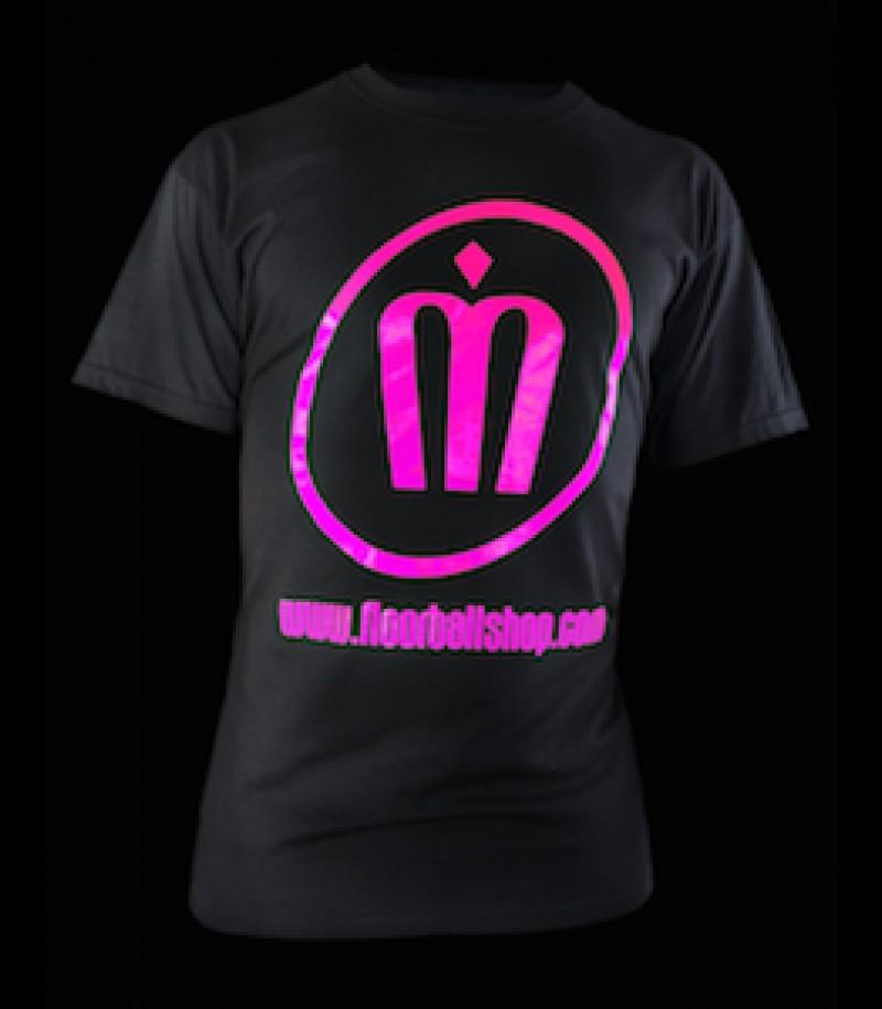 floorballshop.com T-Shirt Neon Line - Magenta