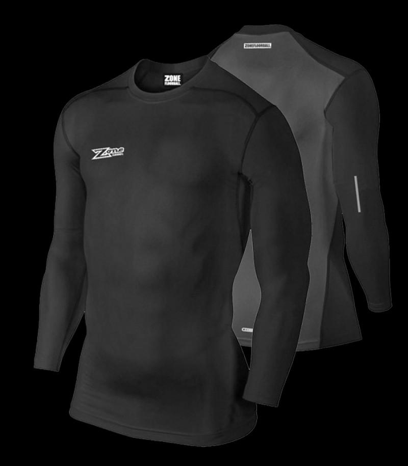 Zone Compression T-Shirt 2.0 Longsleeve Schwarz/Grau