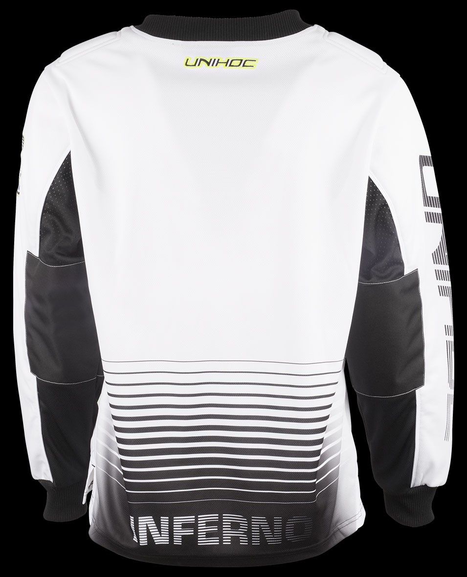 aa1a1a36b60 unihoc Goalie Sweater Inferno Senior White Black