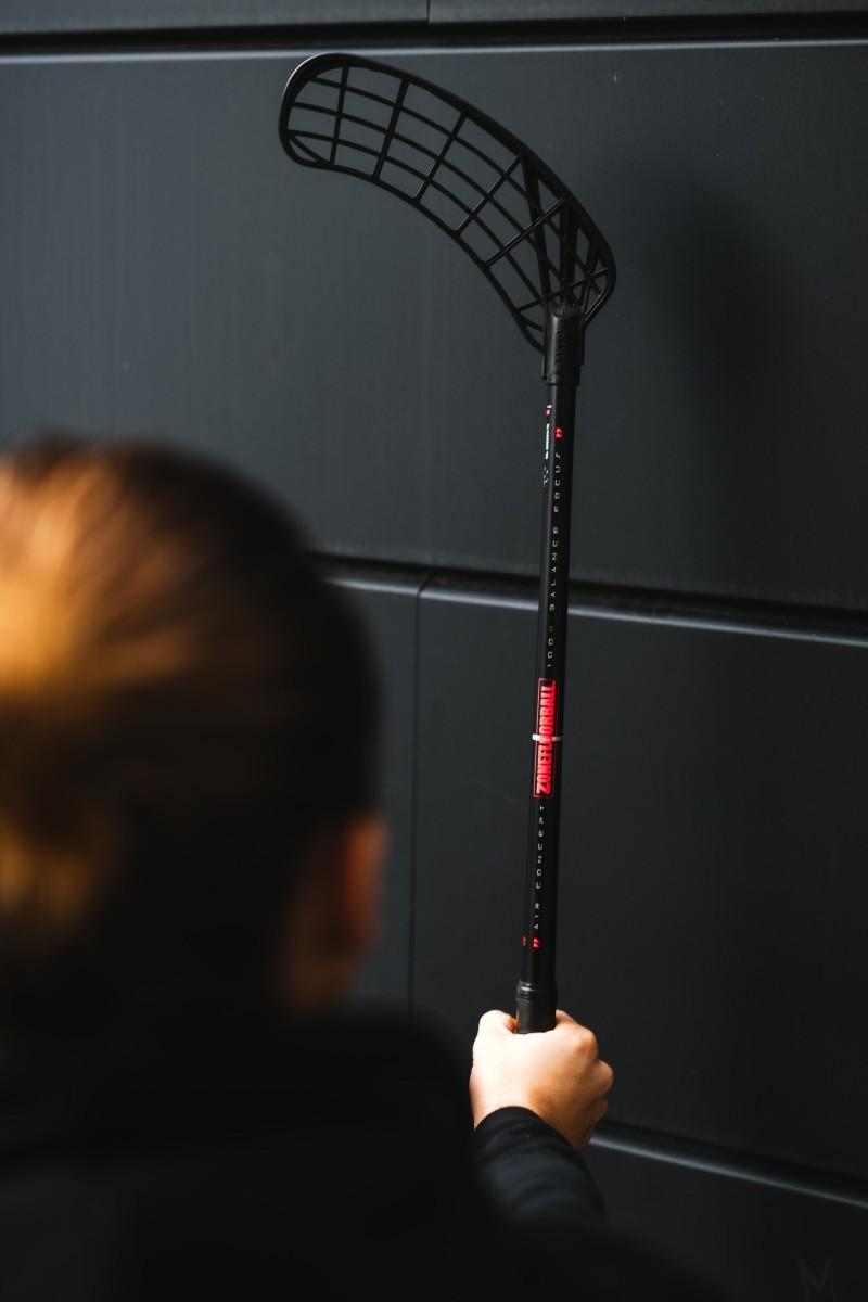 Floorballschl/äger Unihoc Cavity Z Floorball Stick Carbon neon 80-92 cm