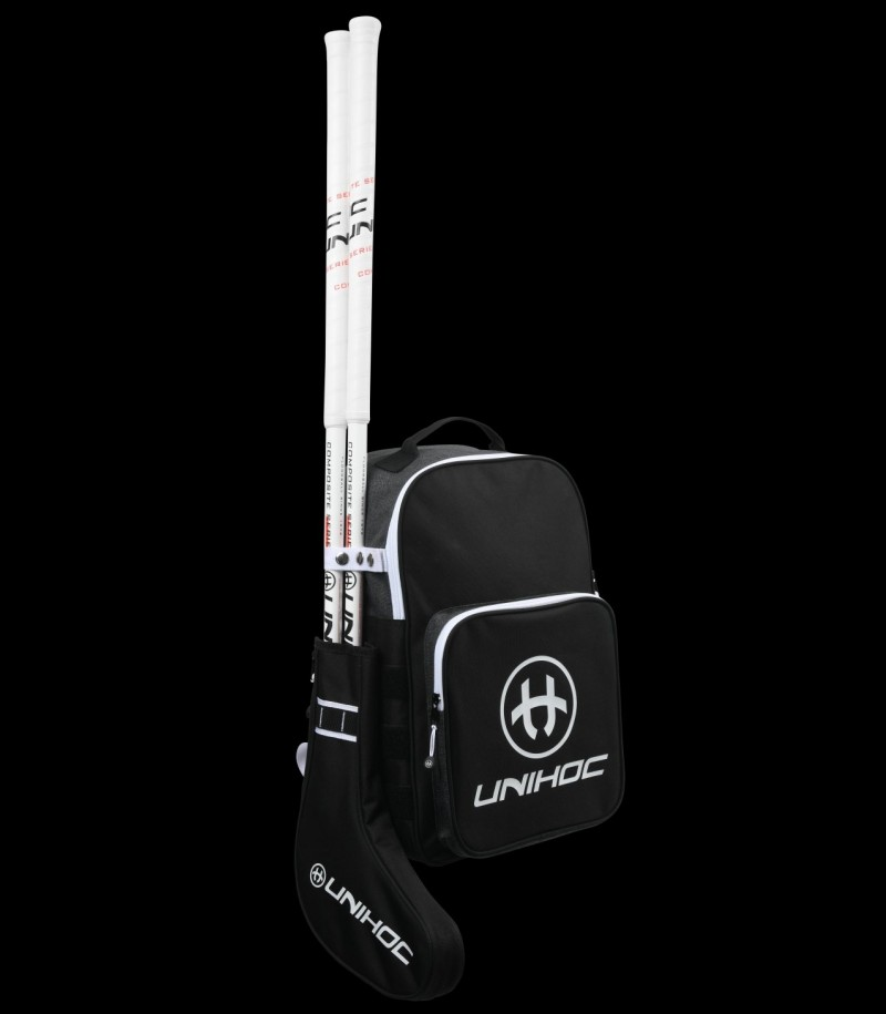 unihoc Backpack Tactic Black/White (with stick holder)
