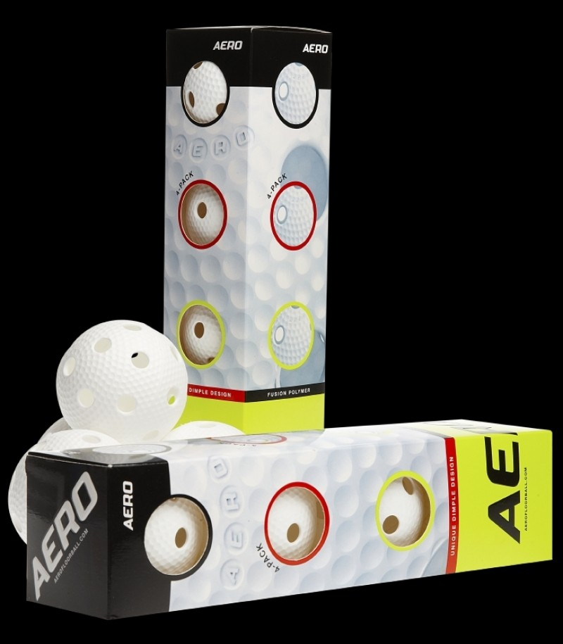 Salming Aero Floorball 4-Pack White