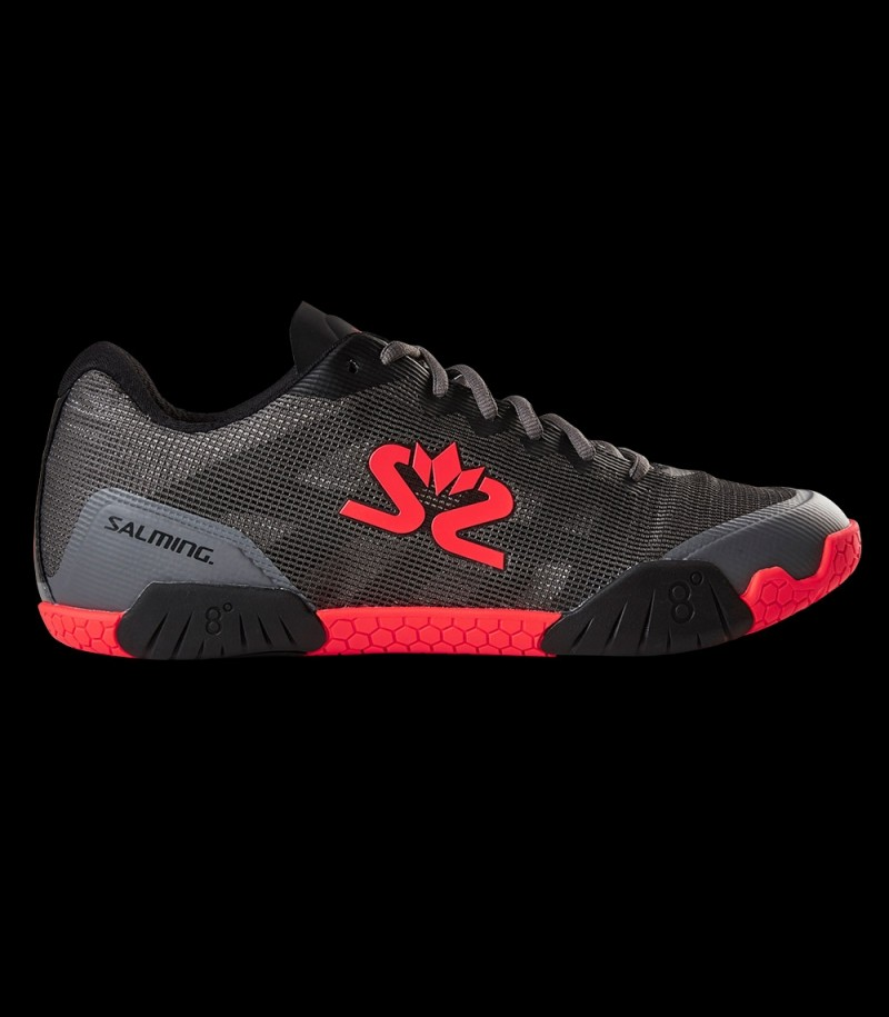 Salming Hawk Men Gun Metal/Lava Red