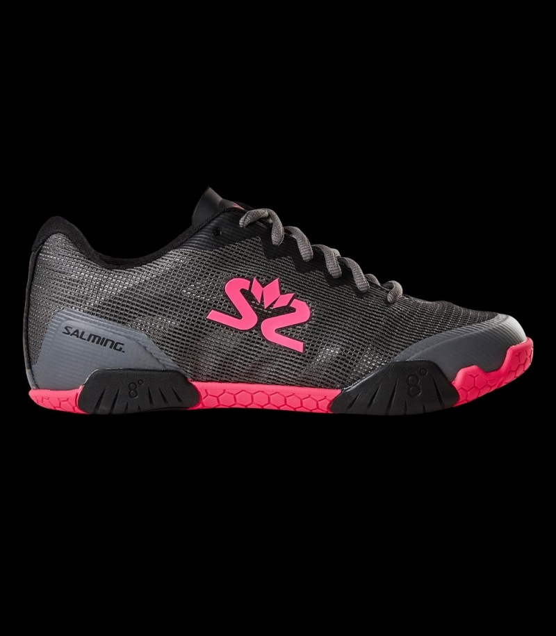 Salming Hawk Shoe Women Gun Metal/Pink