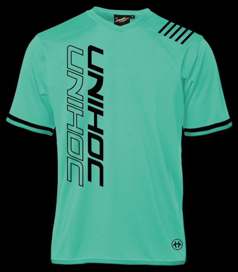 Unihoc T-Shirt Vendetta Black/Turquoise