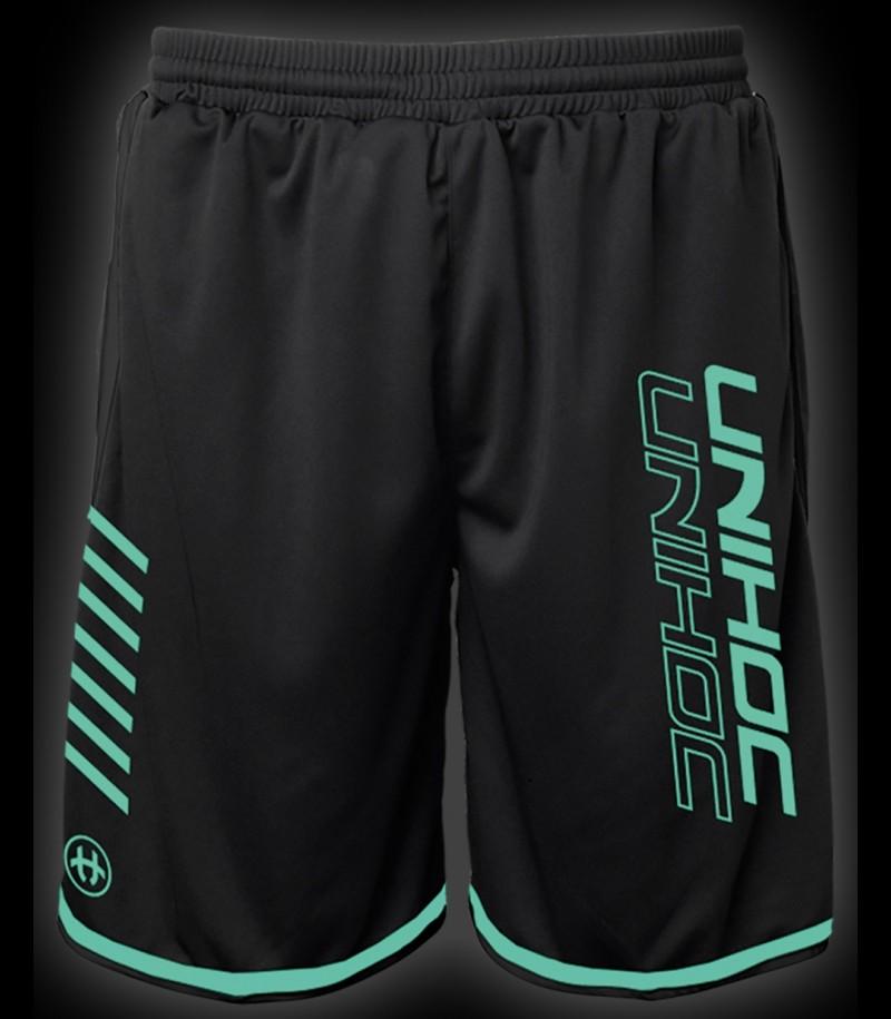 Unihoc Shorts Vendetta Black/Turquoise